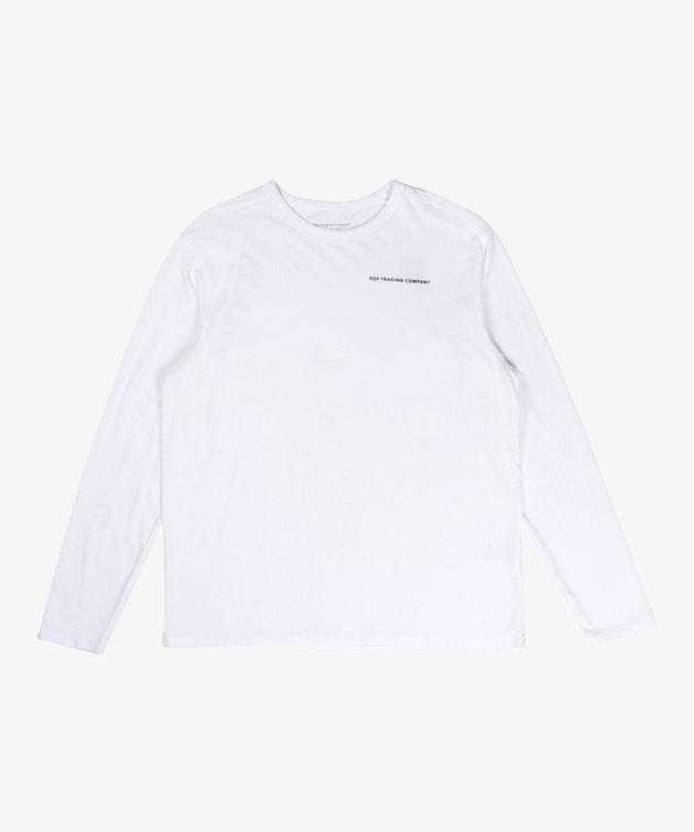 POP Trading Company POP NOS Logo Longsleeve White/Black