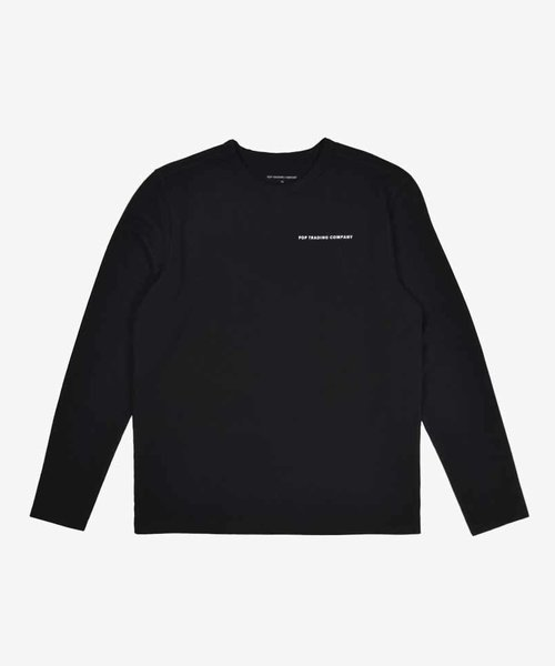 POP NOS Logo Longsleeve Black/White