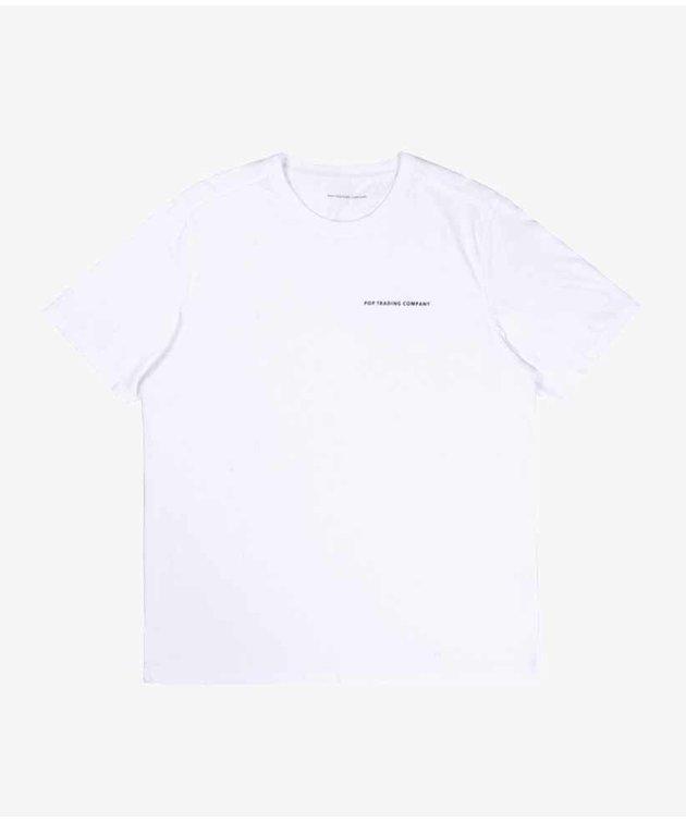POP Trading Company POP NOS Logo T-shirt White/Black