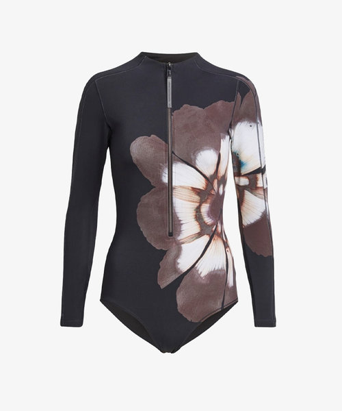 Y-3 W AOP Long Sleeve Swimsuit