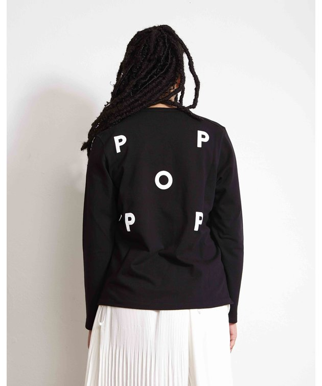 POP Trading Company POP NOS Logo Longsleeve Black/White