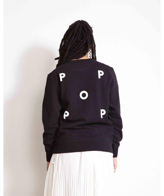 POP Trading Company POP NOS Logo Crewneck Sweat Black/White