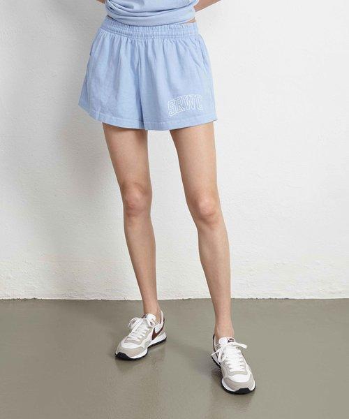 Sporty & Rich Princeton Disco Shorts Blue
