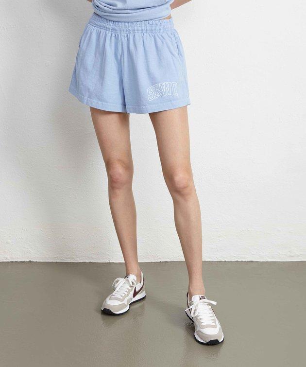 Sporty and Rich Sporty & Rich Princeton Disco Shorts Blue