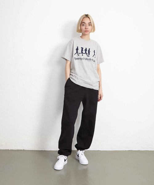 Sporty & Rich Jogger Tee Heather Gray