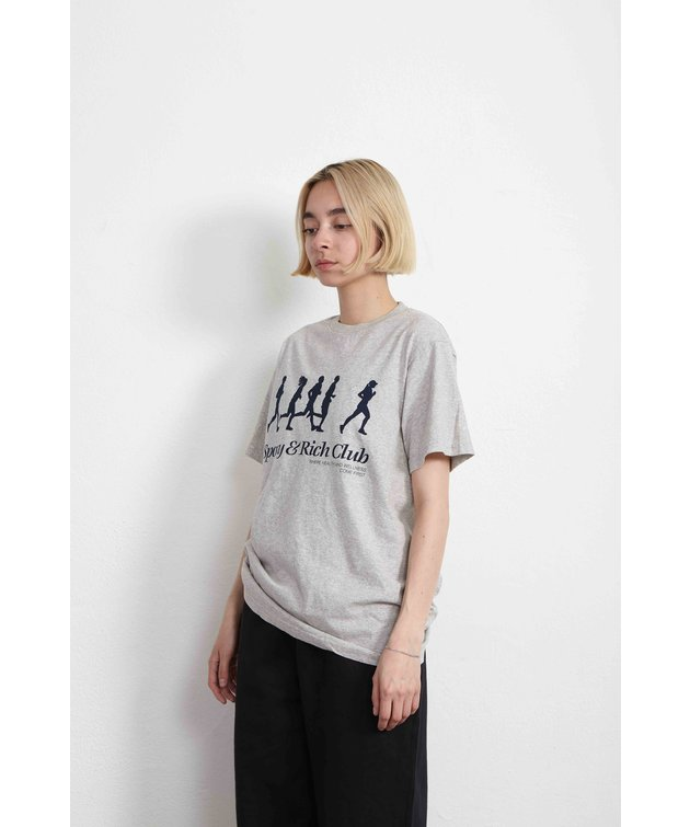 Sporty and Rich Sporty & Rich Jogger Tee Heather Gray