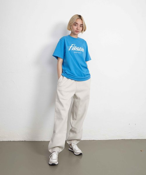 Sporty & Rich 80s Fitness Tee Sapphire