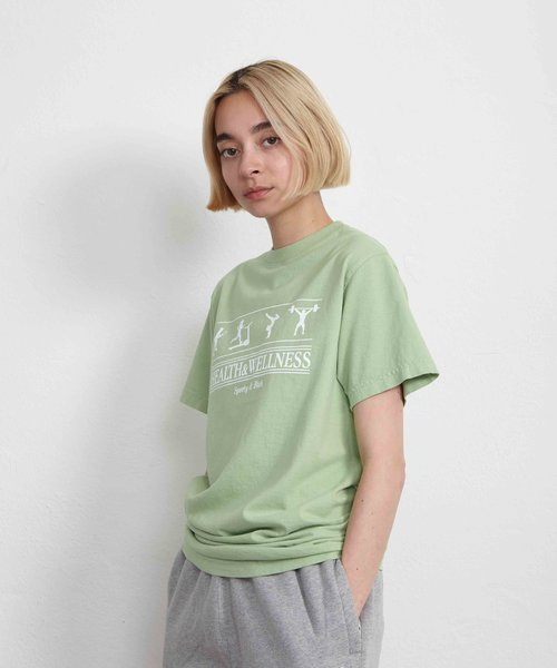 Sporty & Rich Health and Wellness Tee Menthe