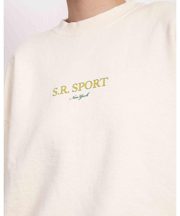 Sporty and Rich Sporty & Rich Wimbledon Crewneck Milk