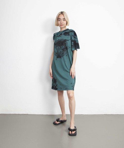 Aries Toga Tee Dress Green/Black