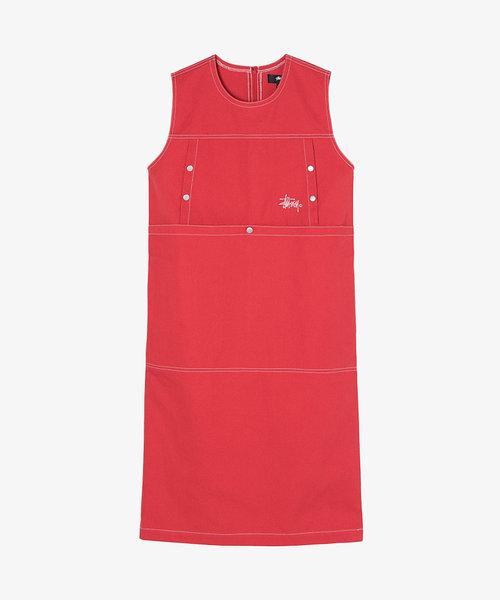 Stussy Stasy Dress Red