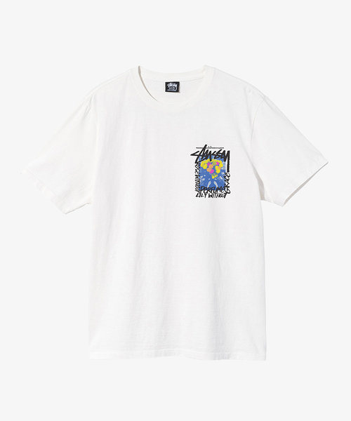 Stussy Camellias Pig. Dyed Tee Natural