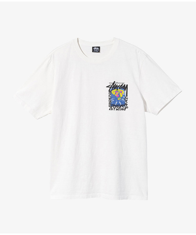 Stussy Stussy Camellias Pig. Dyed Tee Natural