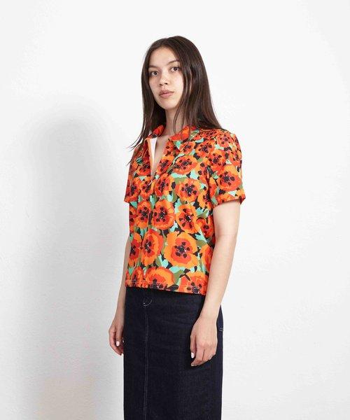 Stussy Orly Zip Shirt Orange