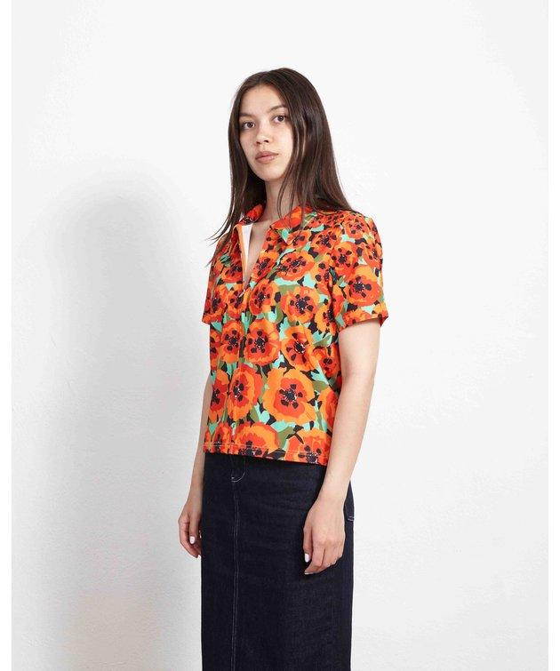 Stussy Stussy Orly Zip Shirt Orange