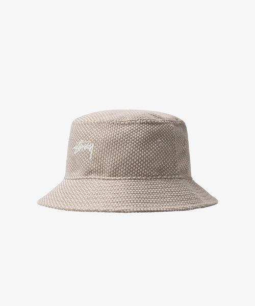 Stussy Jute Weave Bucket Hat Natural