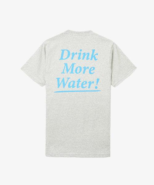Sporty & Rich Drink Water Tee Grey