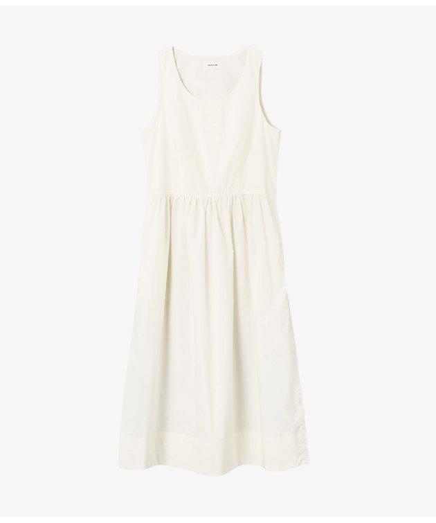 Wood Wood Wood Wood Tenna Poplin Dress Off-White