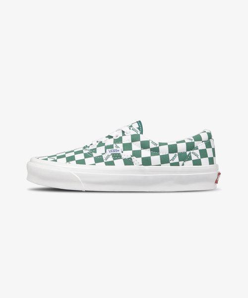 Vans OG Era Lx Checkerboard Logo Green White