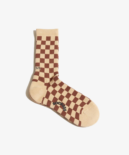 Socksss Tennis Squares Cinnamon Spice
