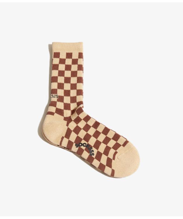 Socksss Socksss Tennis Squares Cinnamon Spice