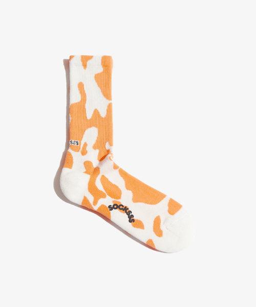 Socksss Tennis Pattern Tangerine Tango
