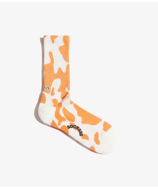 Socksss Socksss Tennis Pattern Tangerine Tango