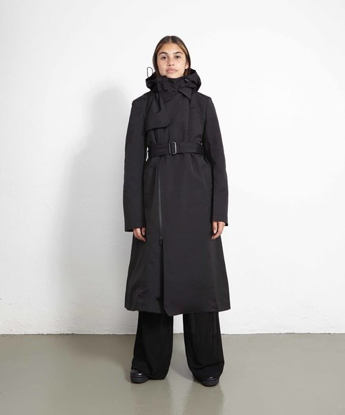 Y-3 Classic Dense Woven Hooded Trench Black
