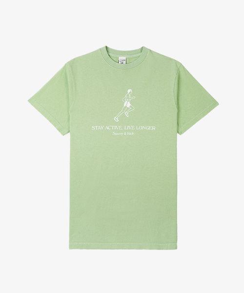 Sporty & Rich Live Longer T-shirt Honeydew