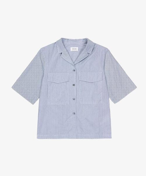 Wood Wood Jacqueline poplin shirt Blue Stripe
