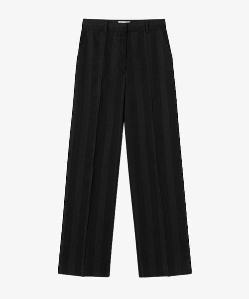Wood Wood Evelyn block stripe trousers Black
