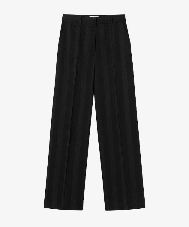Wood Wood Wood Wood Evelyn block stripe trousers Black
