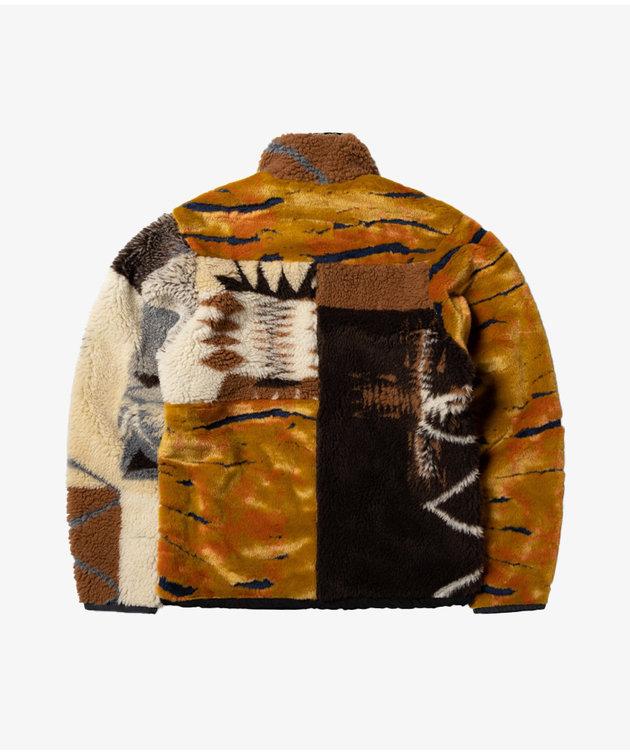 Aries Aries Patchwork Reversible Zip Through Fleece Multi