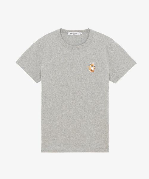 Kitsuné All Right Fox Patch Classic Tee-Shirt Grey
