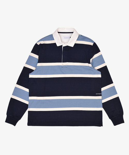POP Rugby Polo Shirt Navy/Blue/Offwhite