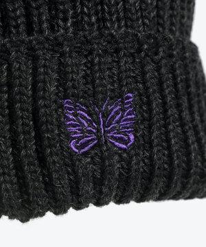 Needles Needles Watch Cap Merino Wool Charcoal