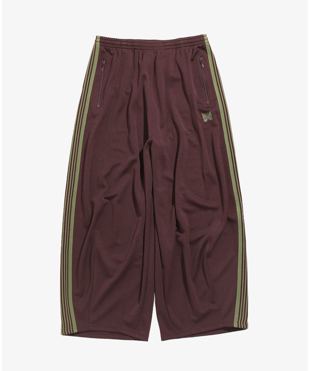 Needles Needles H.D. Track Pant Poly Smooth Maroon