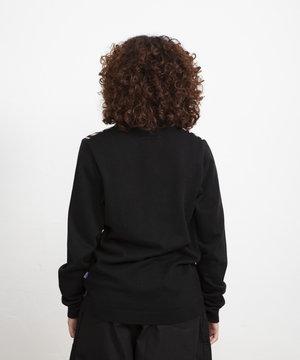 The New Originals TNO Striped Button Vest Black