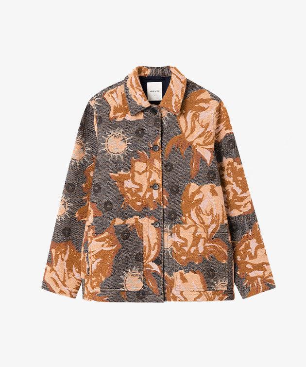 Wood Wood Wood Wood Fabienne Jacquard Shirt Navy