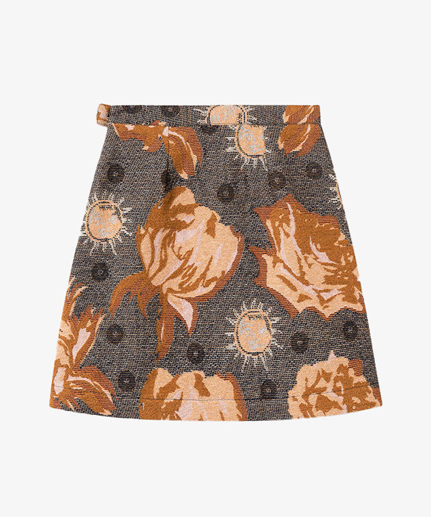 Wood Wood Wood Wood Iris Jacquard Skirt Navy