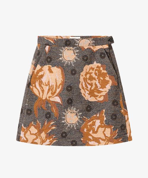 Wood Wood Iris Jacquard Skirt Navy