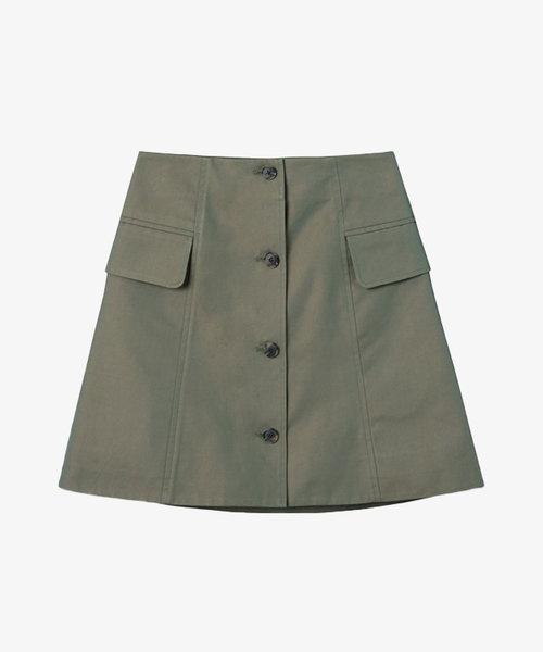 Wood Wood Lotte Iridescent Twill Skirt Olive