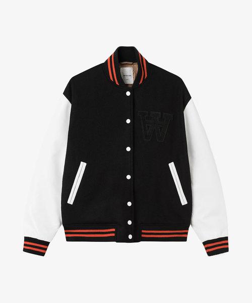Wood Wood Gabriella Varsity Jacket Black