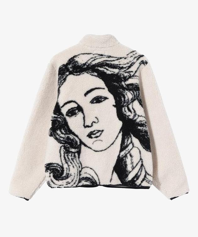 Stussy Stussy Venus Jacquard Sherpa Jacket Natural