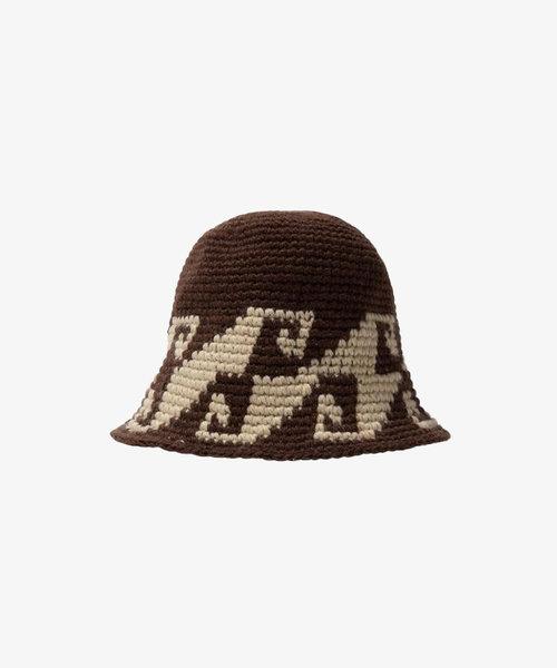 Stussy Waves Knit Bucket Hat Brown
