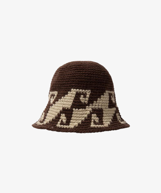 Stussy Stussy Waves Knit Bucket Hat Brown
