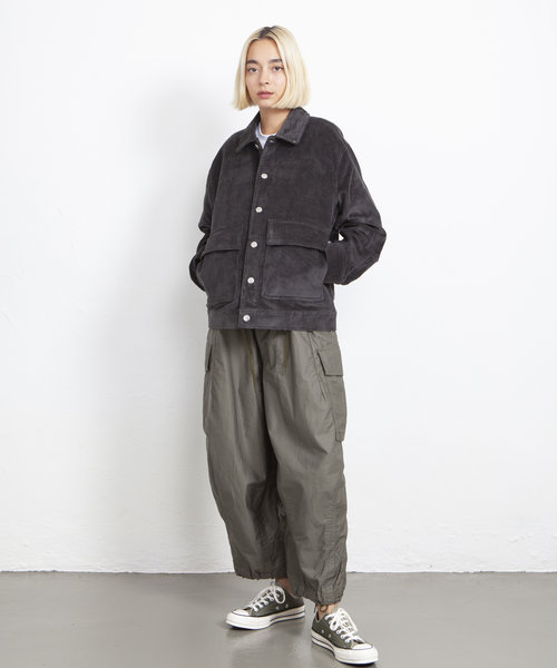 POP Full Button Jacket Charcoal