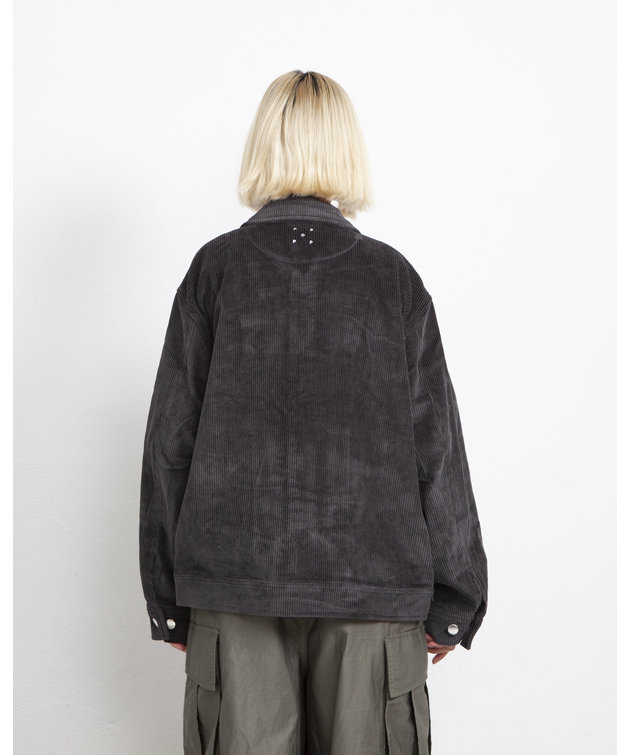 POP Trading Company POP Full Button Jacket Charcoal
