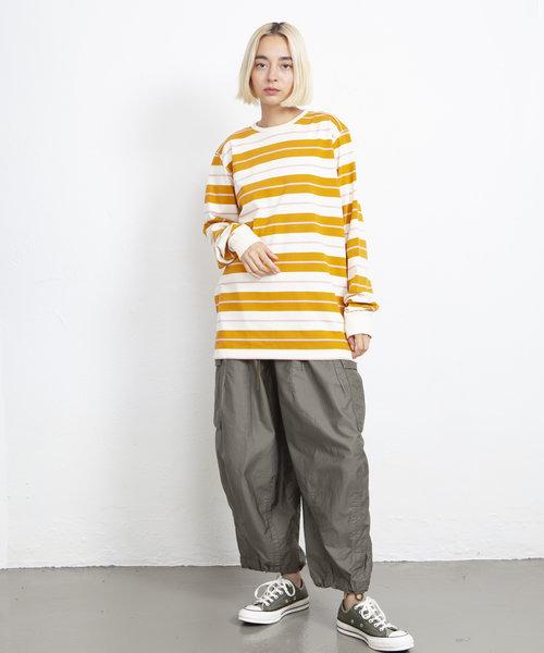POP Striped Longsleeve Spruce Yellow