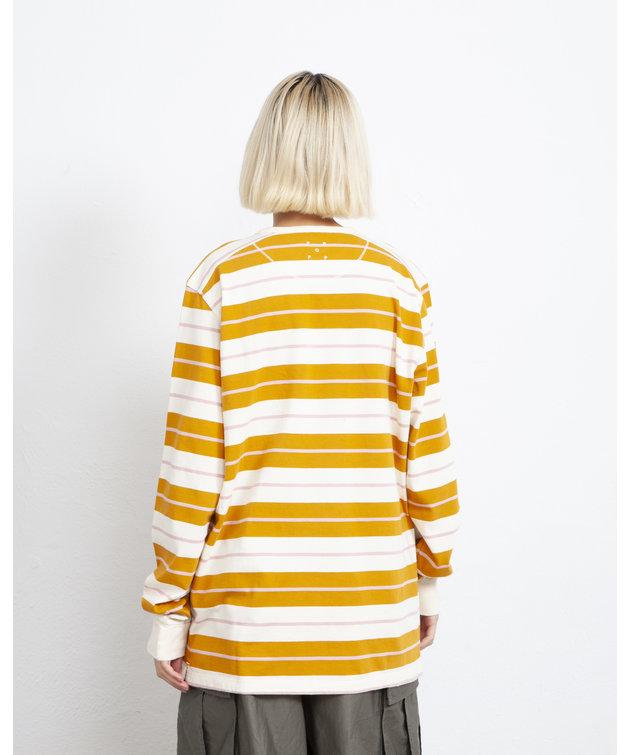 POP Trading Company POP Striped Longsleeve Spruce Yellow